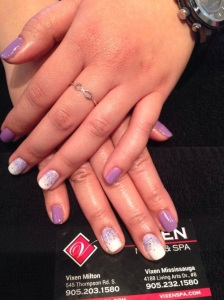 Shellac Mani purple by Jasmeen
