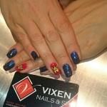 Wonder Women Nails by Ashley