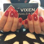 shellac mani with diamond by Van